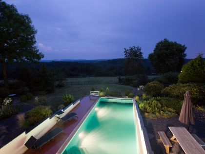 holiday house with pool for rent - Villa Faro Durbuy